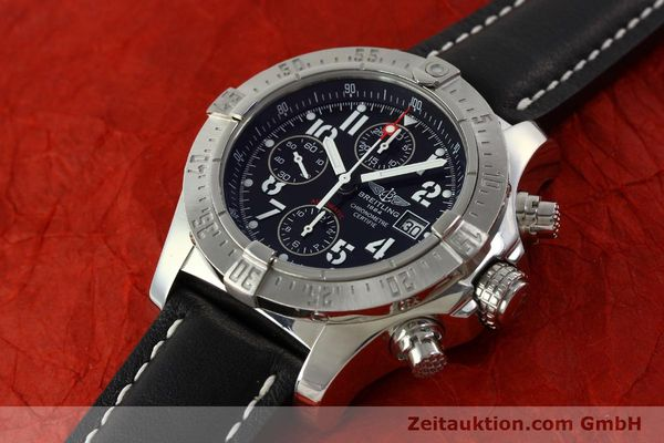 Used luxury watch Breitling Avenger chronograph steel automatic Kal. B13 ETA 7750 Ref. A13380  | 151165 01