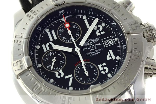 Used luxury watch Breitling Avenger chronograph steel automatic Kal. B13 ETA 7750 Ref. A13380  | 151165 02