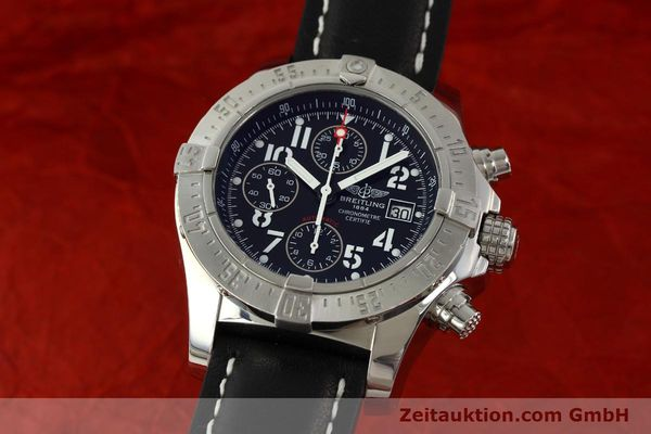 Used luxury watch Breitling Avenger chronograph steel automatic Kal. B13 ETA 7750 Ref. A13380  | 151165 04