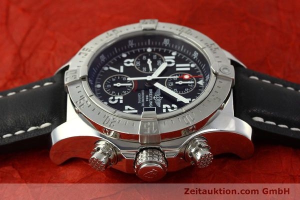 Used luxury watch Breitling Avenger chronograph steel automatic Kal. B13 ETA 7750 Ref. A13380  | 151165 05
