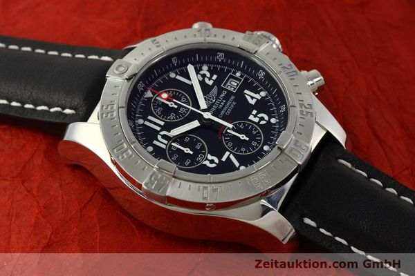 Used luxury watch Breitling Avenger chronograph steel automatic Kal. B13 ETA 7750 Ref. A13380  | 151165 14