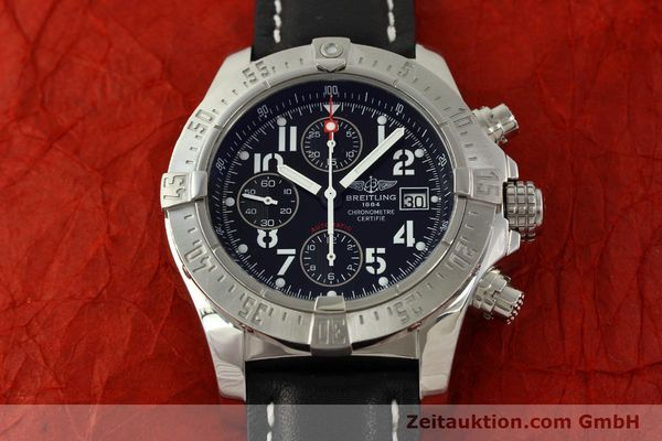 Used luxury watch Breitling Avenger chronograph steel automatic Kal. B13 ETA 7750 Ref. A13380  | 151165 15