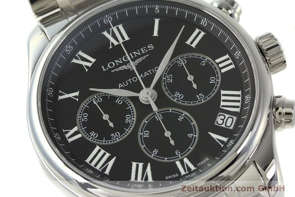montre de luxe d occasion Longines Master Collection chronographe acier automatique Kal. L696.2 ETA A07231 Ref. L2.693.4  | 151170 02