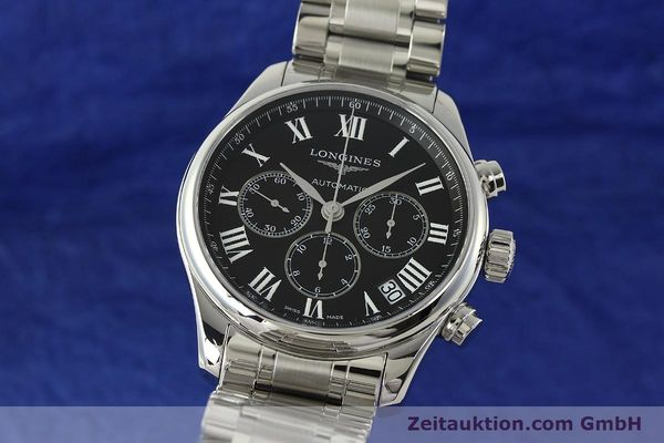 montre de luxe d occasion Longines Master Collection chronographe acier automatique Kal. L696.2 ETA A07231 Ref. L2.693.4  | 151170 04
