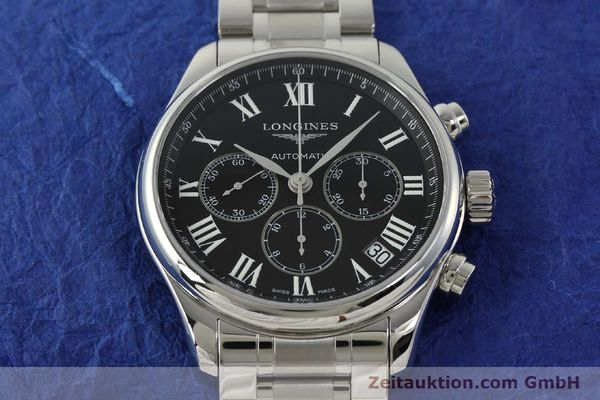 montre de luxe d occasion Longines Master Collection chronographe acier automatique Kal. L696.2 ETA A07231 Ref. L2.693.4  | 151170 17