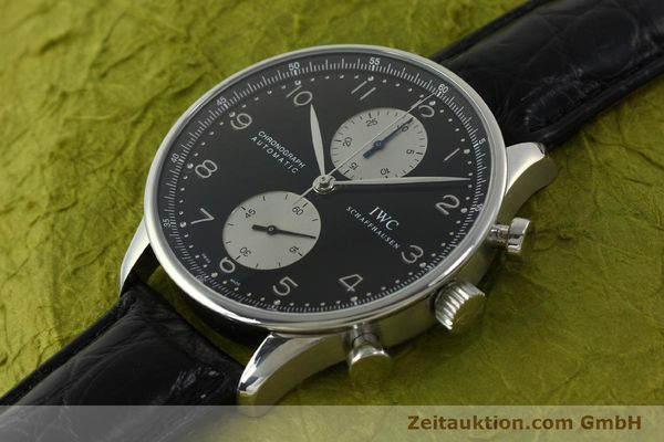 Used luxury watch IWC Portugieser chronograph steel automatic Kal. 79240 Ref. 3714  | 151171 01