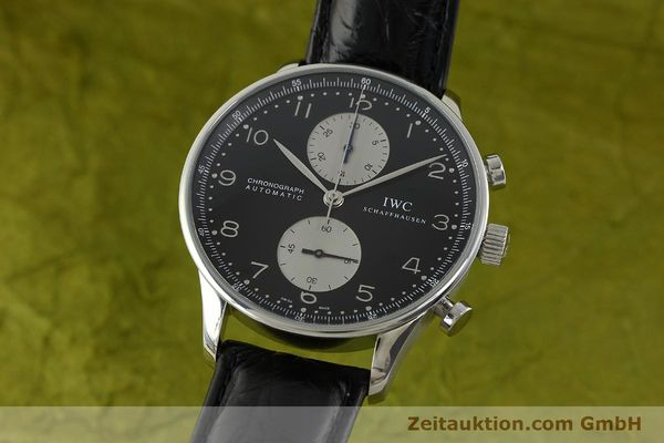 Used luxury watch IWC Portugieser chronograph steel automatic Kal. 79240 Ref. 3714  | 151171 04