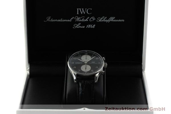 Used luxury watch IWC Portugieser chronograph steel automatic Kal. 79240 Ref. 3714  | 151171 07