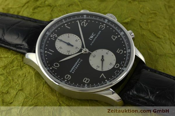 Used luxury watch IWC Portugieser chronograph steel automatic Kal. 79240 Ref. 3714  | 151171 16