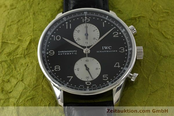 Used luxury watch IWC Portugieser chronograph steel automatic Kal. 79240 Ref. 3714  | 151171 17