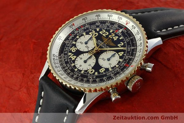 Used luxury watch Breitling Navitimer chronograph steel / gold automatic Kal. LWO 1873 Ref. D12022  | 151173 01