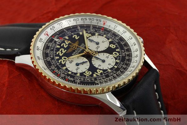 Used luxury watch Breitling Navitimer chronograph steel / gold automatic Kal. LWO 1873 Ref. D12022  | 151173 15