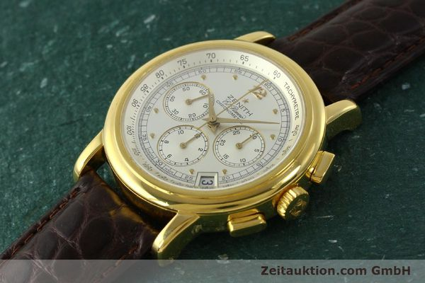 Used luxury watch Zenith Elprimero chronograph 18 ct gold automatic Kal. 400 Ref. 30.0380.400  | 151174 01