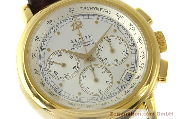 Used luxury watch Zenith Elprimero chronograph 18 ct gold automatic Kal. 400 Ref. 30.0380.400  | 151174 02