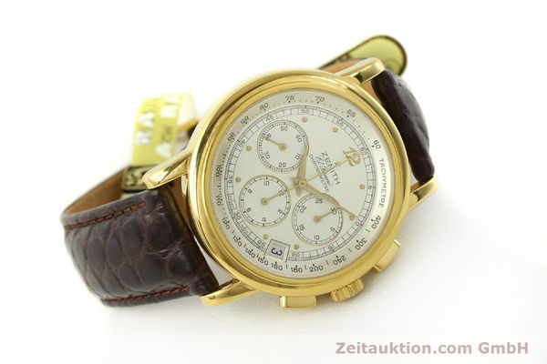 Used luxury watch Zenith Elprimero chronograph 18 ct gold automatic Kal. 400 Ref. 30.0380.400  | 151174 03