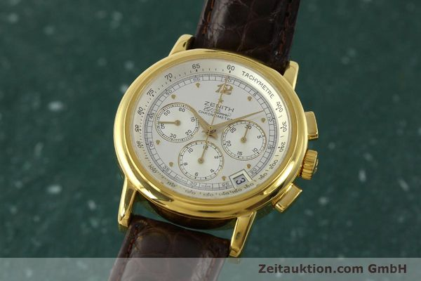 Used luxury watch Zenith Elprimero chronograph 18 ct gold automatic Kal. 400 Ref. 30.0380.400  | 151174 04