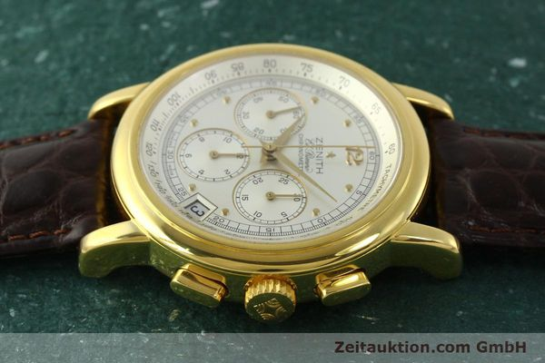 Used luxury watch Zenith Elprimero chronograph 18 ct gold automatic Kal. 400 Ref. 30.0380.400  | 151174 05
