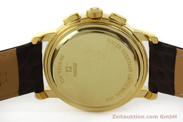 Used luxury watch Zenith Elprimero chronograph 18 ct gold automatic Kal. 400 Ref. 30.0380.400  | 151174 09