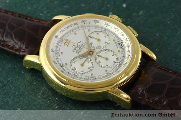 Used luxury watch Zenith Elprimero chronograph 18 ct gold automatic Kal. 400 Ref. 30.0380.400  | 151174 12