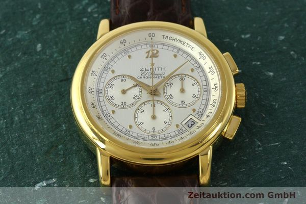 Used luxury watch Zenith Elprimero chronograph 18 ct gold automatic Kal. 400 Ref. 30.0380.400  | 151174 13