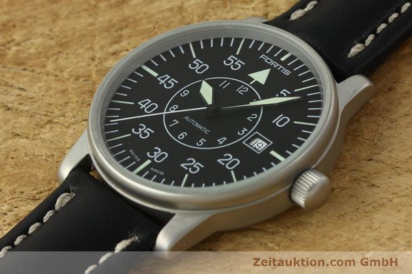 Used luxury watch Fortis Flieger steel automatic Kal. ETA 2824-2 Ref. 593.10.46 VINTAGE  | 151197 01
