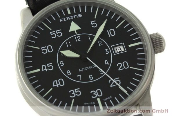Used luxury watch Fortis Flieger steel automatic Kal. ETA 2824-2 Ref. 593.10.46 VINTAGE  | 151197 02