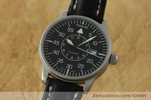 Used luxury watch Fortis Flieger steel automatic Kal. ETA 2824-2 Ref. 593.10.46 VINTAGE  | 151197 04
