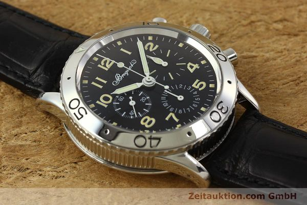 Used luxury watch Breguet Type XX chronograph steel automatic Kal. 582 LWO1377 Ref. 3800  | 151198 15