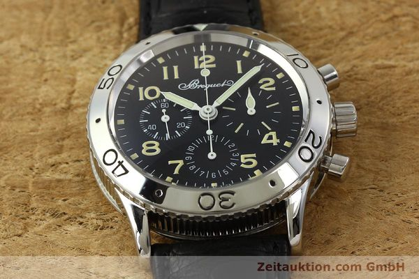 Used luxury watch Breguet Type XX chronograph steel automatic Kal. 582 LWO1377 Ref. 3800  | 151198 16