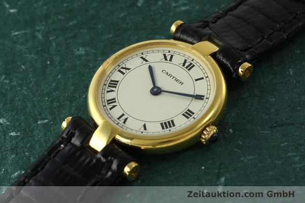 Used luxury watch Cartier * 18 ct gold quartz Kal. 81  | 151202 01