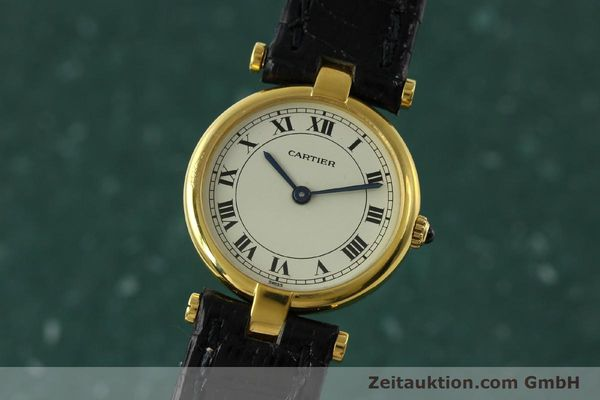 Used luxury watch Cartier * 18 ct gold quartz Kal. 81  | 151202 04