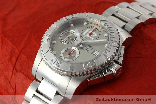 Used luxury watch Longines Hydro Conquest chronograph steel automatic Kal. L 667.2 ETA 7750 Ref. 9165 L3.673.4  | 151213 01