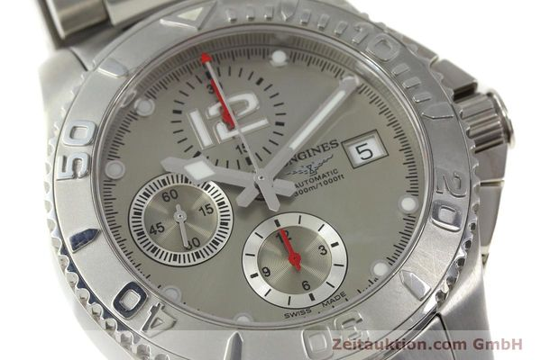 Used luxury watch Longines Hydro Conquest chronograph steel automatic Kal. L 667.2 ETA 7750 Ref. 9165 L3.673.4  | 151213 02