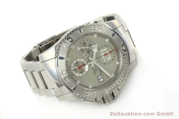 Used luxury watch Longines Hydro Conquest chronograph steel automatic Kal. L 667.2 ETA 7750 Ref. 9165 L3.673.4  | 151213 03