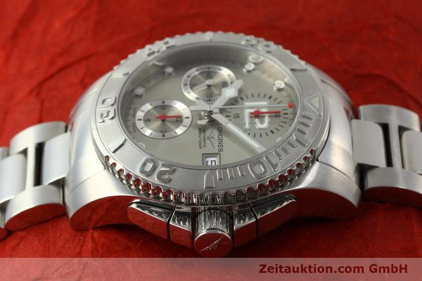 Used luxury watch Longines Hydro Conquest chronograph steel automatic Kal. L 667.2 ETA 7750 Ref. 9165 L3.673.4  | 151213 05
