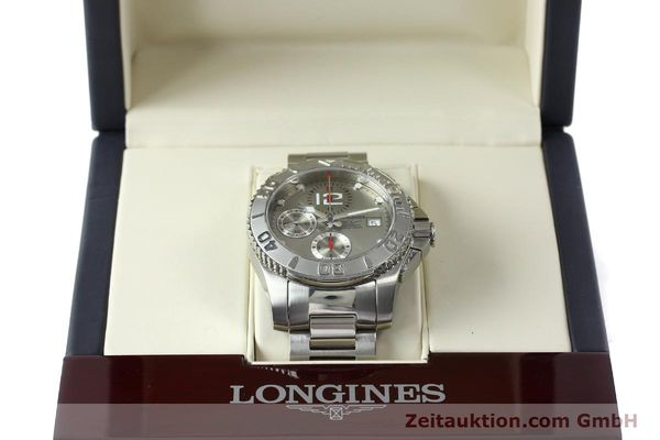 Used luxury watch Longines Hydro Conquest chronograph steel automatic Kal. L 667.2 ETA 7750 Ref. 9165 L3.673.4  | 151213 07