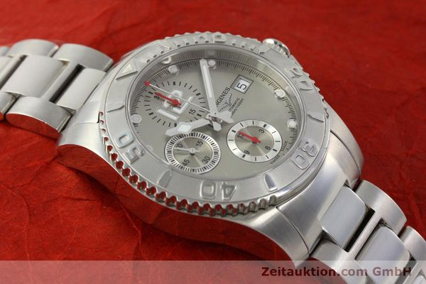 Used luxury watch Longines Hydro Conquest chronograph steel automatic Kal. L 667.2 ETA 7750 Ref. 9165 L3.673.4  | 151213 16
