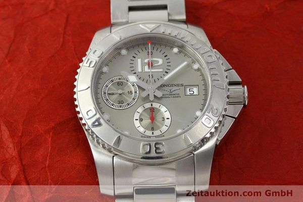 Used luxury watch Longines Hydro Conquest chronograph steel automatic Kal. L 667.2 ETA 7750 Ref. 9165 L3.673.4  | 151213 17