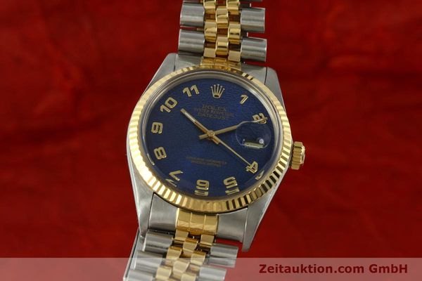 montre de luxe d occasion Rolex Datejust acier / or  automatique Kal. 3035 Ref. 16013  | 151232 04