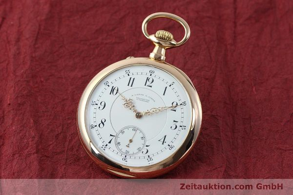 Used luxury watch A. Lange & Söhne ALS Taschenuhr 18 ct red gold manual winding Kal. 45  | 151247 04