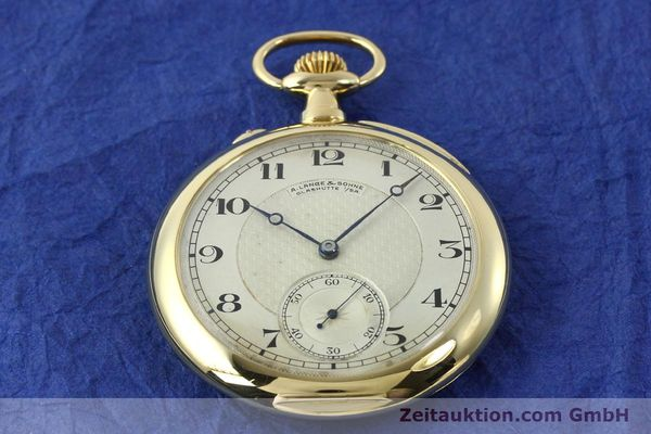Used luxury watch A. Lange & Söhne ALS Taschenuhr 18 ct gold manual winding Kal. 41  | 151249 15