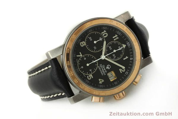 Used luxury watch Girard Perregaux 7000 chronograph titanium / gold automatic Kal. 8000-164 Ref. 7000  | 151251 03