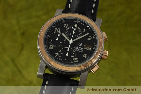 Used luxury watch Girard Perregaux 7000 chronograph titanium / gold automatic Kal. 8000-164 Ref. 7000  | 151251 04