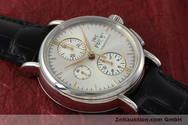 Used luxury watch IWC Portofino chronograph steel automatic Kal. 79320 Ref. 3783  | 151255 17