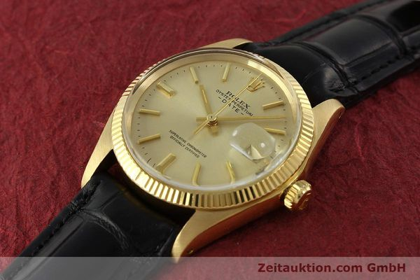 Used luxury watch Rolex Date 18 ct gold automatic Kal. 1570 Ref. 1503  | 151268 01