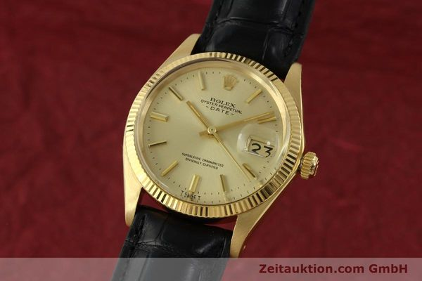 Used luxury watch Rolex Date 18 ct gold automatic Kal. 1570 Ref. 1503  | 151268 04