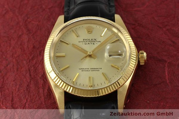 Used luxury watch Rolex Date 18 ct gold automatic Kal. 1570 Ref. 1503  | 151268 16