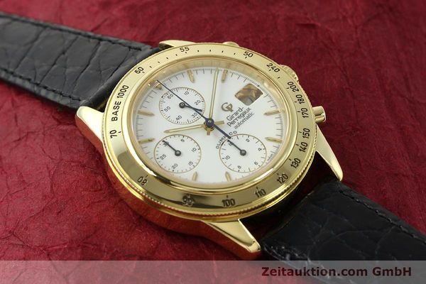 Used luxury watch Girard Perregaux Olimpico 1992 chronograph 18 ct gold automatic Kal. GP8000-214 Ref. 1030  | 151271 14