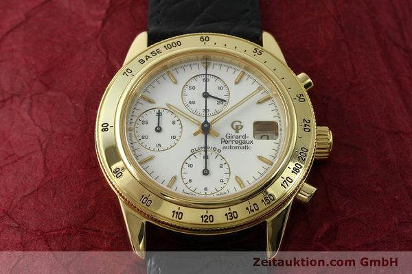 Used luxury watch Girard Perregaux Olimpico 1992 chronograph 18 ct gold automatic Kal. GP8000-214 Ref. 1030  | 151271 15