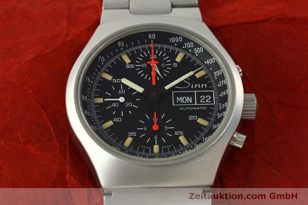 Used luxury watch Sinn 157 chronograph steel automatic Kal. 5100  | 151282 15